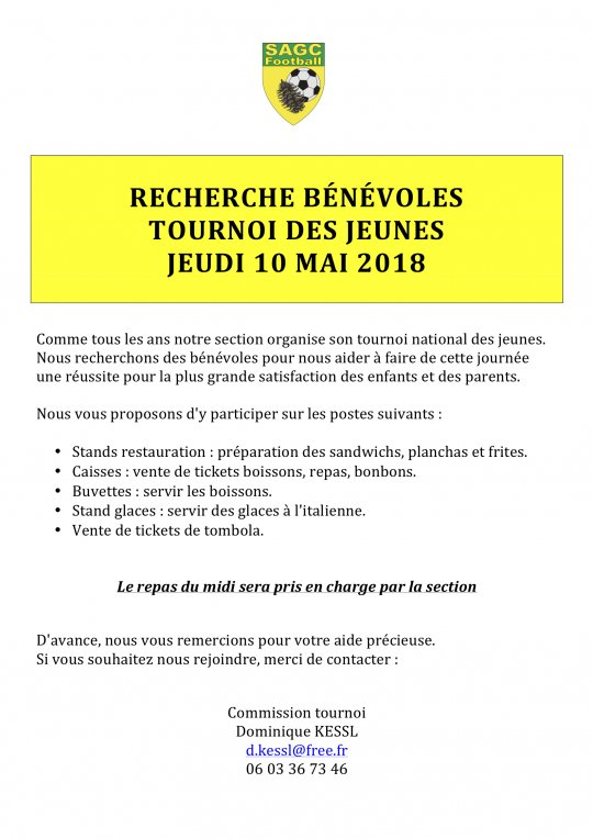 Appel a Benevoles Tournoi Avril 2018jpg