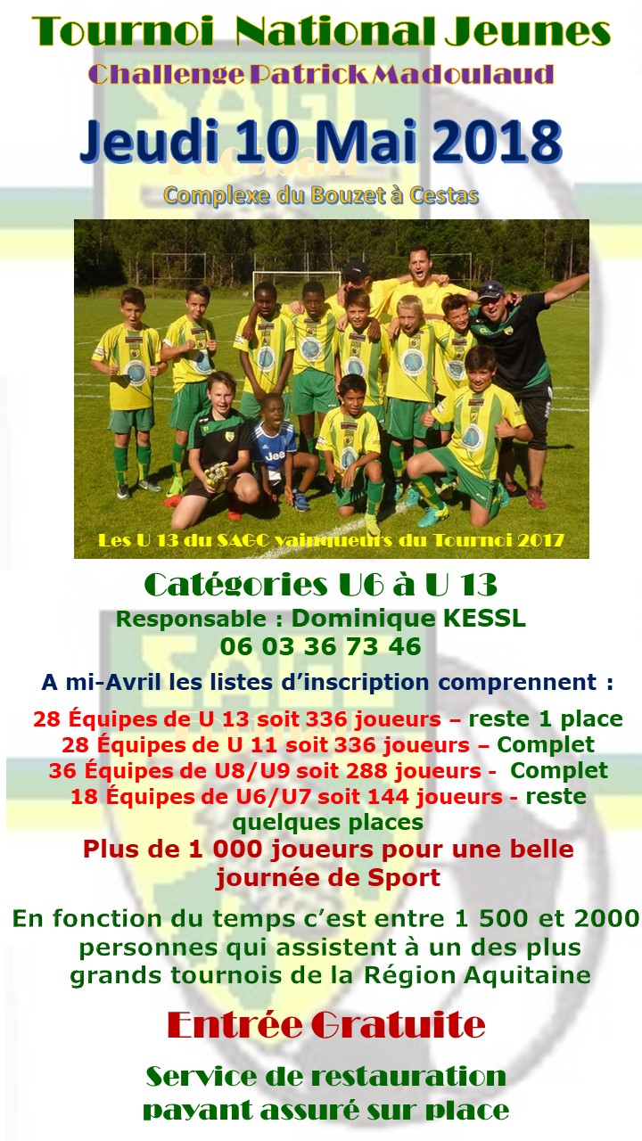 Affiche Tournoi Avril 2018